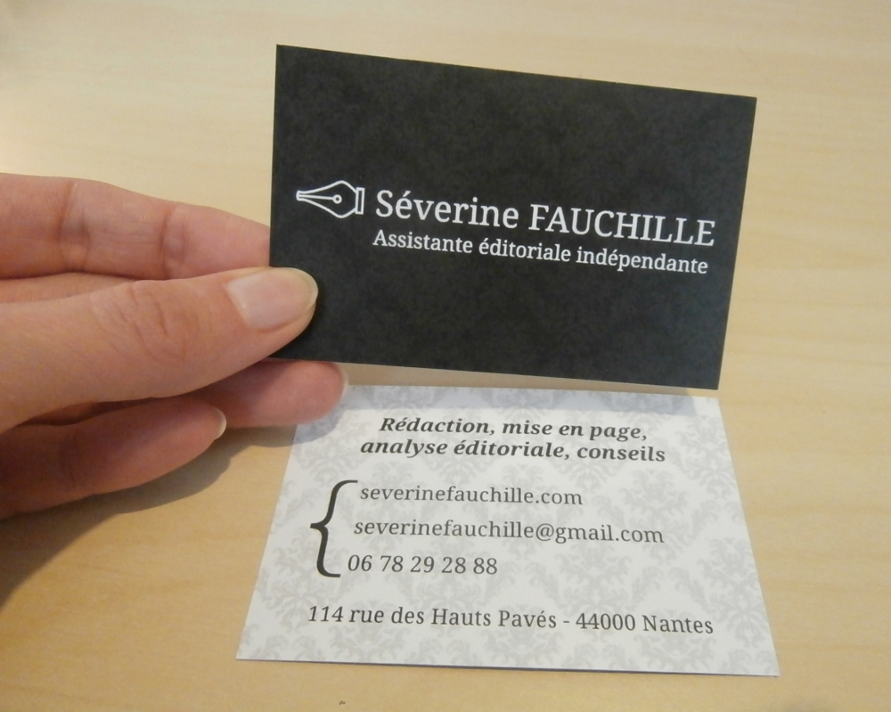 Carte de visite de Séverine Fauchille recto verso